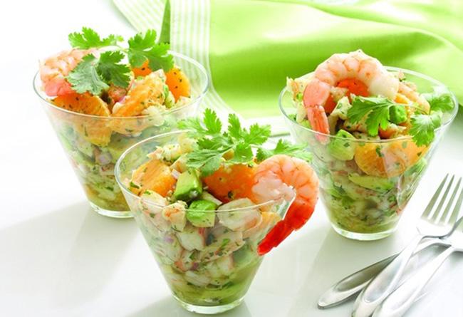 "Легкий салат с креветками - ""Тенерифе"""