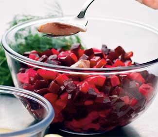 Рецепт винегрета с горчичным соусом